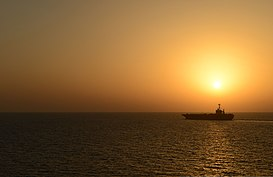 The aircraft carrier USS Harry S. Truman (CVN 75) steams through the Gulf of Oman Oct. 19, 2013 131019-N-UP035-398.jpg