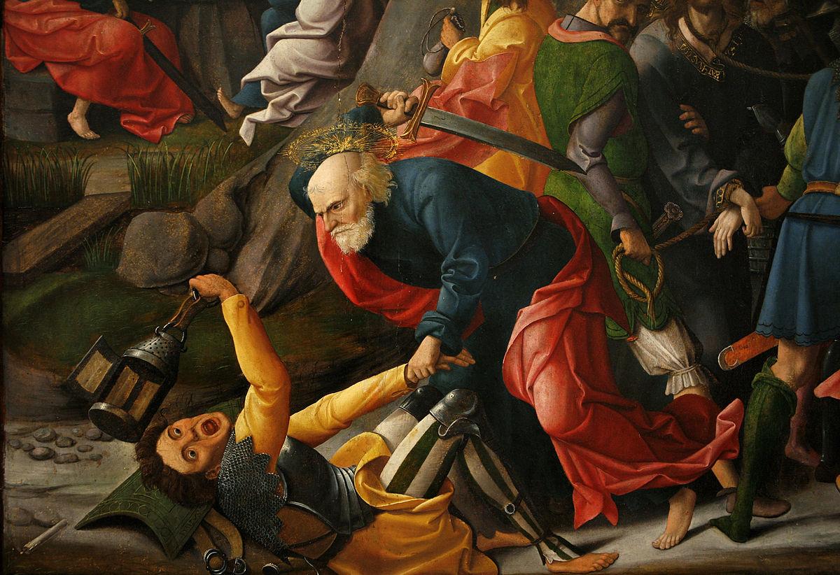 Картинки по запросу Симон же Пётр, имея меч, извлёк его, и ударил первосвященнического раба