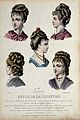The heads and shoulders of five women with their hair combed Wellcome V0019888ER.jpg