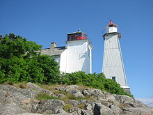 The lighthouse in Sandvigen outside Arendal in Norway.jpg