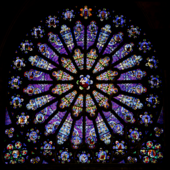 The north transept rose window at St-Denis.png