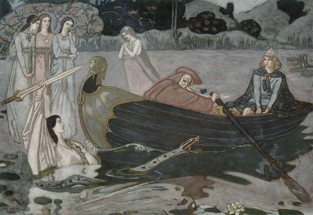 The taking of Excalibur, by John Duncan.jpg