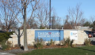 ThedaCare Regional Medical Center–Neenah - Entrance sign for the medical center in 2009