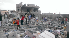 This neighborhood where more than 100 buildings have been damaged has brought attention to the plight of Yemeni blacks with neighboring communities coming to witness the damage - Sanaa - Oct-9-2015.png