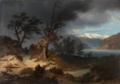 Thomas Fearnley - Stormy Landscape with a Rider - Uværslandskap med en rytter - Nasjonalmuseet - NG.M.01628.png
