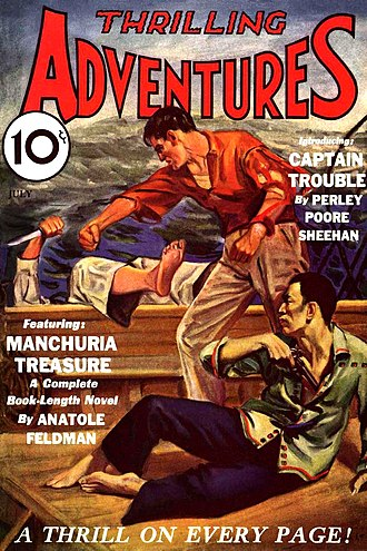 Adventure fiction - Adventure novels and short stories were popular subjects for American pulp magazines.