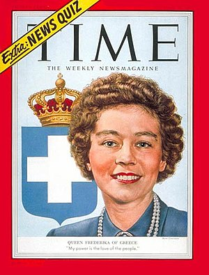 Frederica of Hanover - On the cover of Time, 1953