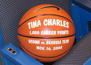 Tina Charles (basketball) - Commemorative Ball for 1000 points