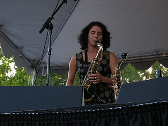 Jessica Lurie - Lurie appearing with the Tiptons at Bumbershoot 2008.