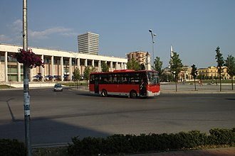 Bus lines in Tirana - Smaller buses serving rural Tirana
