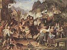 Ein Gemälde von Joseph Anton Koch zum Thema des Tiroler Aufstandes (Tiroler Landsturm 1809) (Quelle: Wikimedia)