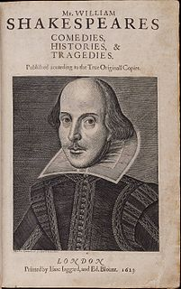 1623 collection of William Shakespeare