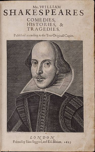 File:Title page William Shakespeare's First Folio 1623.jpg