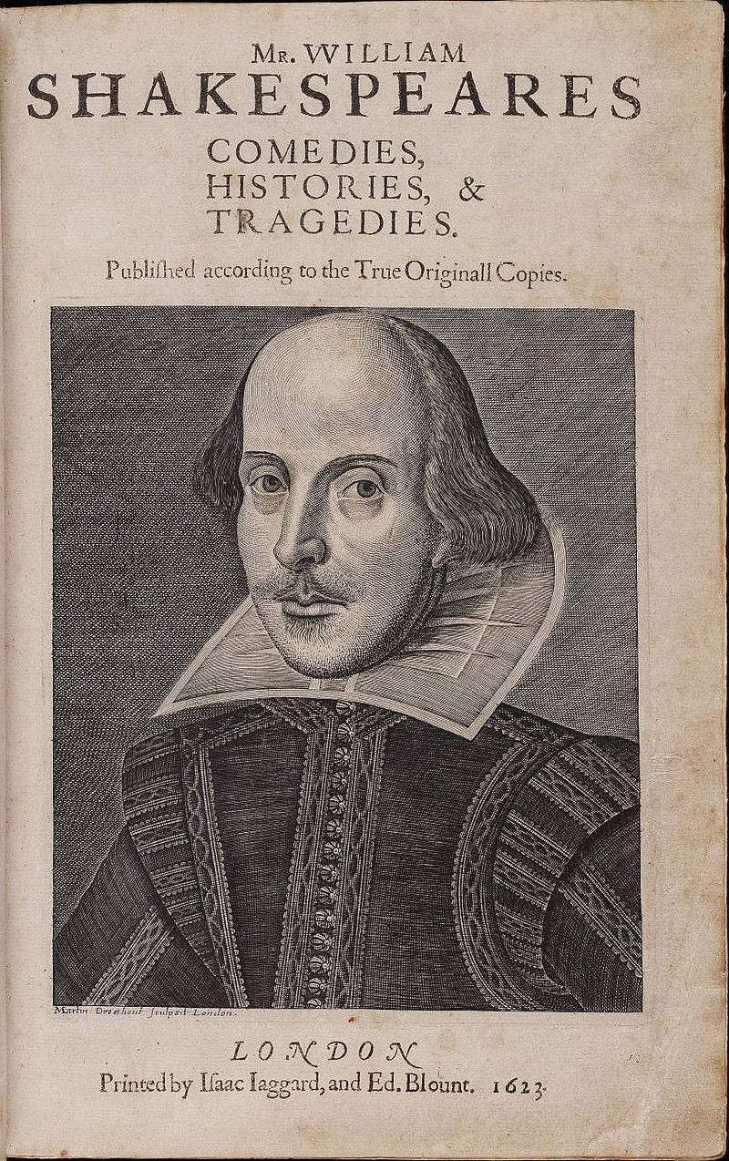 Title page William Shakespeare%27s First Folio 1623.jpg