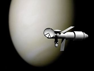 Soviet crewed lunar programs - Artist's depiction of TMK-MAVR on a Venus flyby