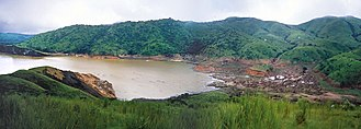 Carbon capture and storage - Lake Nyos as it appeared fewer than two weeks after the eruption; August 29, 1986.