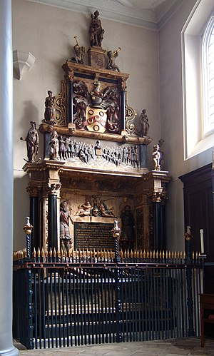 Thomas Sutton - Tomb of Thomas Sutton in the chapel of the London Charterhouse.