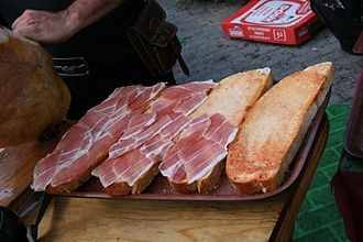 Ham sandwich - Ham sandwiches prepared with toasted bread