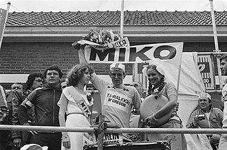 Jan Raas - Raas wearing the yellow jersey at the 1978 Tour de France