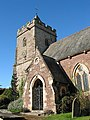 Tower and porch of St. Michael's Church, Blaisdon - geograph.org.uk - 599213.jpg