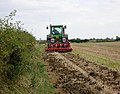 Tractor with power-harrow - geograph.org.uk - 234125.jpg