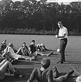 Trainer Georg Kessler en enige spelers van Jong Oranje, Bestanddeelnr 918-2842.jpg