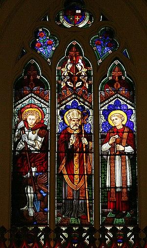 St. Basil's Church, Toronto - St.Basil triptych window