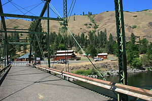 Troy, Oregon - Troy, Oregon looking northwest from footbridge