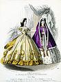 Tryck. Modebild från Le Journal des dames et des demoiselles. Januari 1863. Klänningar - Nordiska Museet - NMA.0052107.jpg