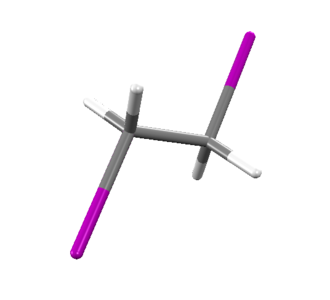 1,2-Diiodoethane - Image: Tube model of 1,2 Diiodoethane