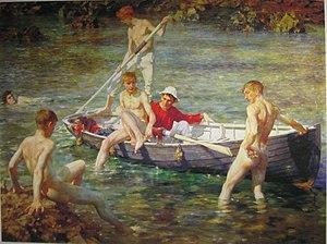 Ruby, Gold and Malachite - Henry Scott Tuke, Ruby, Gold and Malachite, 1902