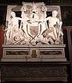 Tullio e antonio lombardo, camino della sala erizzo, 1506 ca., con cappa più tarda e stemma del doge francesco erizzo, 1631-46.JPG