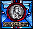 Tullow Church of the Most Holy Rosary North Transept Window Bishop Daniel Delany Detail Portrait 2013 09 06.jpg
