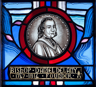 Daniel Delany - Stained glass window by George Walsh in Tullow