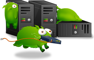 Error message - Tumbeasts gnawing on servers, used by Tumblr in 2011