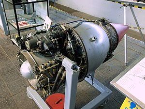 Turbomeca Marboré - Marboré II on display at the Museum für Luftfahrt und Technik