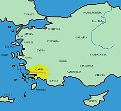 Location of Caria