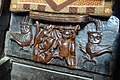 Turning the Tables. Three rats hang a cat. The owls either side are ready to pounce, Misericord, Great Malvern Priory (by Julian P Guffogg, geograph.co.uk 3087091 5a7eeb63).jpg