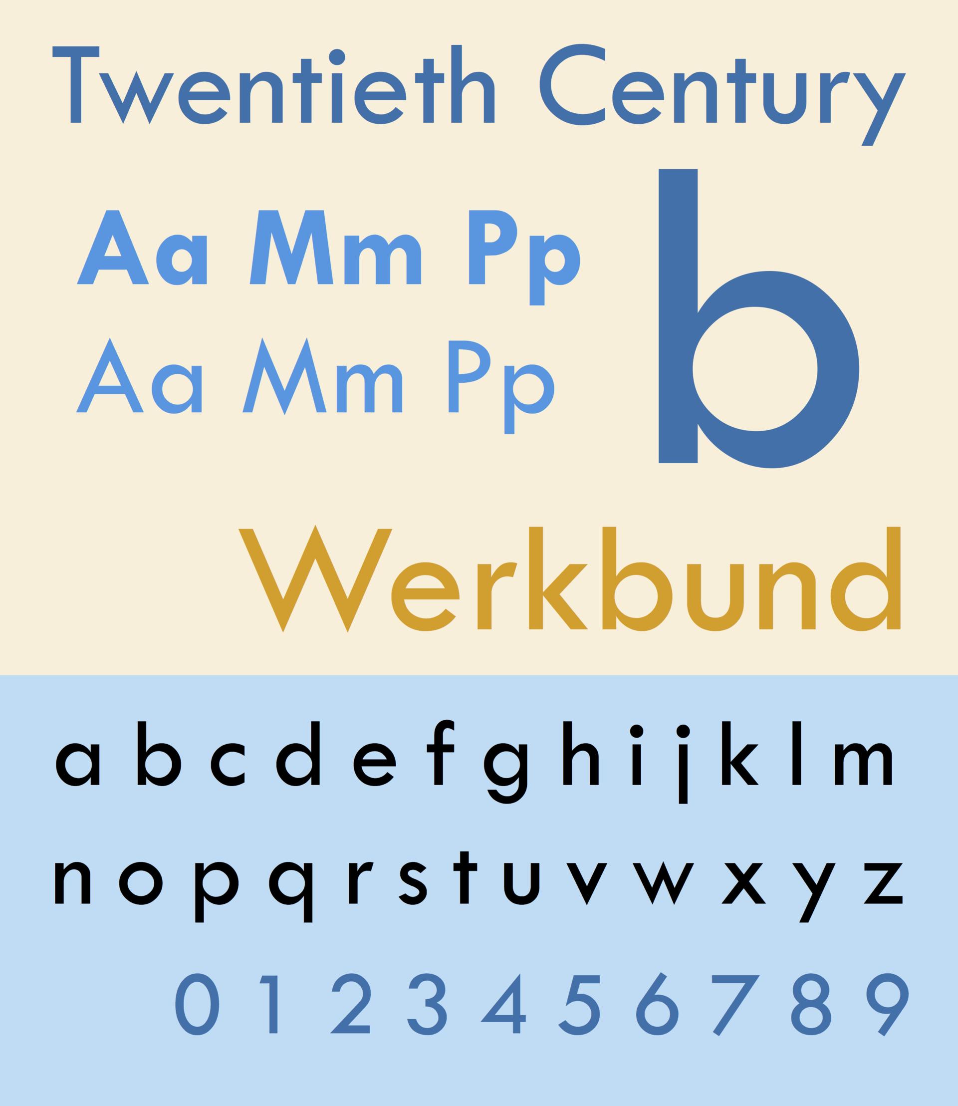 twentieth century typeface wikipedia