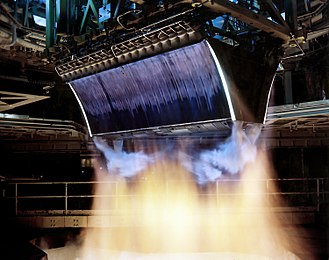 Aerospike engine - XRS-2200 linear aerospike engine for the X-33 program being tested at the Stennis Space Center