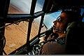 U.S. Marine Corps Capt. Nathan Sidwell, a C-130 Hercules aircraft pilot with Marine Aerial Refueler Transport Squadron (VMGR) 234, looks toward the runway at Tan Tan Airfield, Tan Tan, Morocco, April 9, 2012 120409-M-IX060-001.jpg