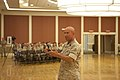 U.S. Marine Corps Sgt. Maj. Kenneth Bohn, outgoing battalion sergeant major, 2nd Intelligence Battalion (2nd Intel BN), 2nd Marine Division (2nd MARDIV), addresses the Marines of 2nd Intel BN and family members 140310-M-BZ307-030.jpg