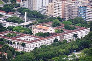 The Palácio Universitário, a 19th century Neoclassical building that serves as campus of the UFRJ. The Institutes for Economy, Education and Administration, among others, are based here.