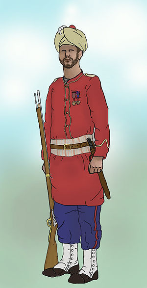 The Grenadiers - Bombay Grenadier in British service, 1910.