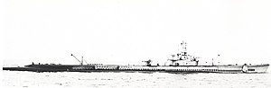 USS Argonaut (SS-475) - USS Argonaut as she originally appeared, seen at the Panama Canal Zone during training in May 1945.