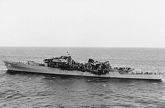 USS Belknap (CG-26) - Belknap after her collision with the aircraft carrier John F. Kennedy