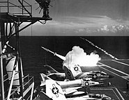 USS Constellation (CVA-64) fires RIM-2 1962