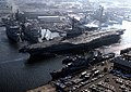 USS Coral Sea (CV-43) leaving Norfork NS in 1985.jpg