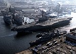 USS Coral Sea (CV-43) leaving Norfork NS in 1985.jpg