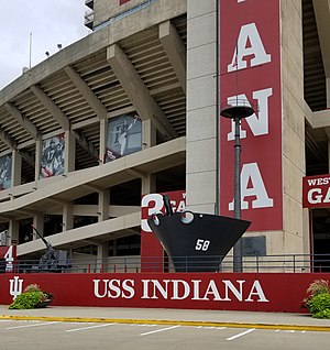 Memorial Stadium (Indiana) - USS Indiana - Memorial Stadium